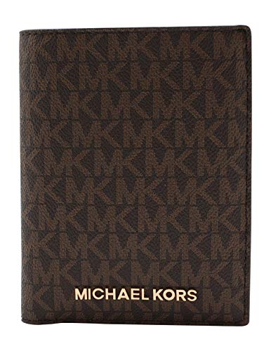 Michael Kors Jet Set Travel Passport Holder Wallet Case PVC 2019 (Brown PVC)