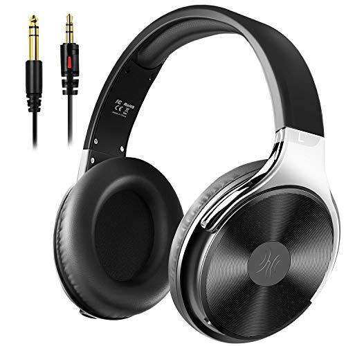 OneOdio Kopfhörer Over Ear mit Kabel, Geschlossener Studio HiFi Kopfhörer mit Share Port für E-Drum Piano Gitarre Smartphones iPad Laptop Adapter-frei 3.5-6.35mm Buchse