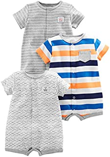 Simple Joys by Carter's Baby Boys' 3-Pack Snap-up Rompers
