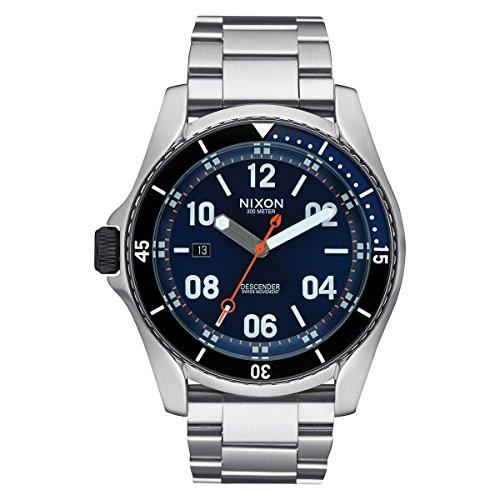 Nixon Unisex Reloj de Pulsera Descender analógico de Cuarzo Acero Inoxidable a959–1258–00