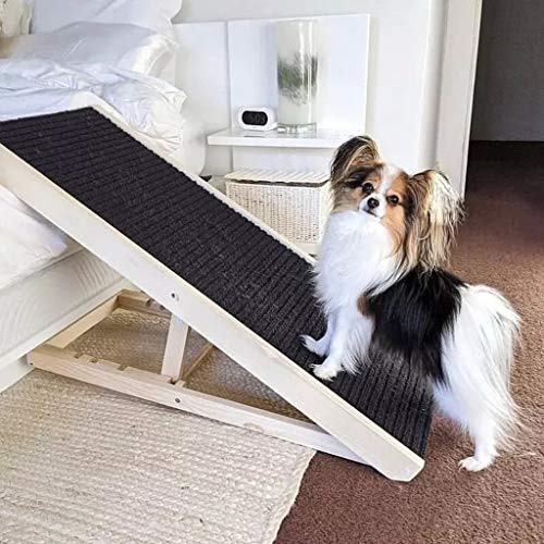 WHAEOSKH Best Dog Ramp,Treadmill Breathable Mesh Foldable Pet Stairs Detachable Pet Bed Stairs Dog Ramp 2 Steps