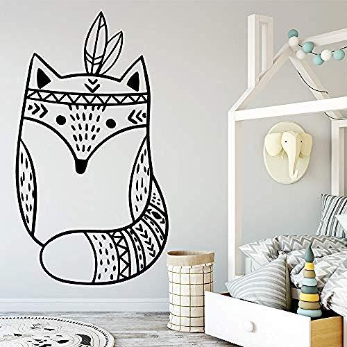 Mode Cartoon Fox Stickers Muraux PVC Art Mural DIY Affiche pour Chambre D'enfants Salon Décor À La Maison Mur Art Stickers Muraux 43 cm X 73 cm
