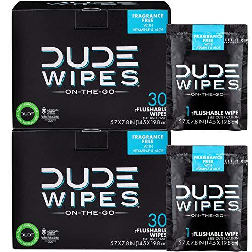 DUDE Wipes Flushable Wipes