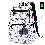USB Cat Print Schultaschen Kinderrucksäcke für Jugendliche Mädchen wasserdichte Schultaschen...