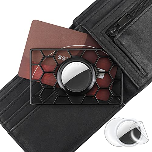 Wallet Case for Apple AirTag - The ORIGINAL TagCard Flex - Credit Card-Sized Holder for Wallet, Clutch, or Wristlet - Plastic Material (Black/Lightweight)
