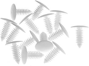Blesiya 50 Stks Nylon Klinknagels Push Type Bumper Fastener Clips Witte Behoud Sluitingen Bevestigingsmiddelen
