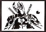 Poster Deadpool Masacre Grafiti Hecho a Mano - Handmade Street Art - Artwork...