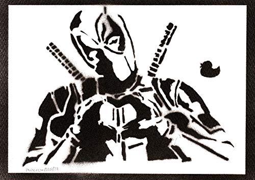 Deadpool Poster Plakat Handmade Graffiti Street Art - Artwork