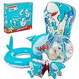 SAMBRO Set hinchables Piscina de Tiburon Brazaletes y flotadores Natación y Waterpolo, Adultos Unisex, Multicolor (Multicolor), Talla Única