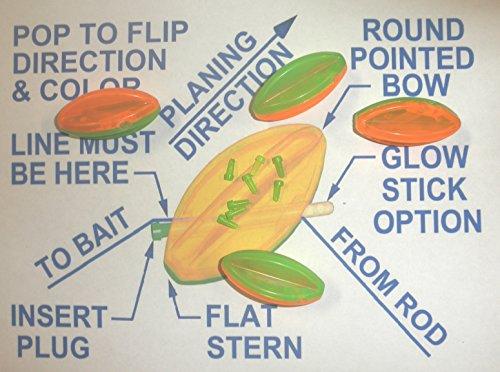 Steer It Fishing 2' Bullet Bobbers Mini Planer Boards 4-Pack