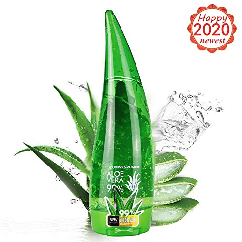 100% Bio-Organic Aloe Vera Gel - from Freshly Cut Organic Pure Aloe Plant - Great for Hair and Face - Relieves Sunburn, Dry Scalp, Irritated Skin with No Sticky Residue - Daily Skin Care to Clarify