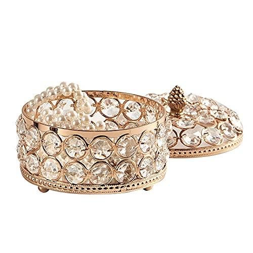 LANL Pendientes para niña, caja de joyería con placa de cristal Protable, anillo de joyería multifunción para el día de San Valentín para las mujeres
