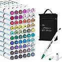 61-Piece Lelix Dual Tip Permanent Marker Highlighters Colors Pens