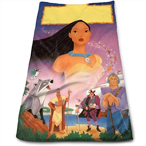 Hdadwy Anime Pocahontas and Meeko Towel 100% Luxury Cotton Soft Bath Towels-Thick, Quality, Towels for Bathroom Hotel and Kitchen-(12 x 27.5 inch)
