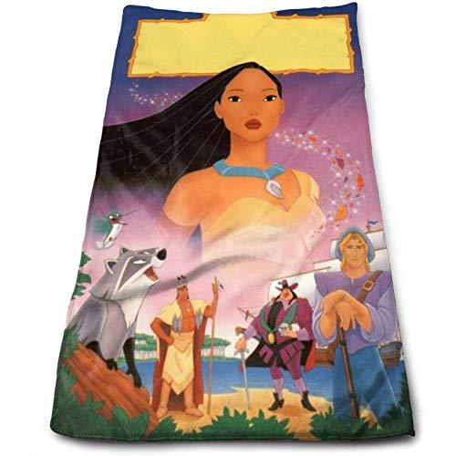 Hdadwy Toalla de Anime Pocahontas y Meeko, 100% algodón de Lujo, Toallas de baño Suaves, Gruesas, de Calidad, para baño, Hotel y Cocina, (12 x 27,5 Pulgadas)