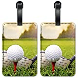 Golf Club & Ball - Luggage ID Tags/Suitcase Identification Cards - Set of 2