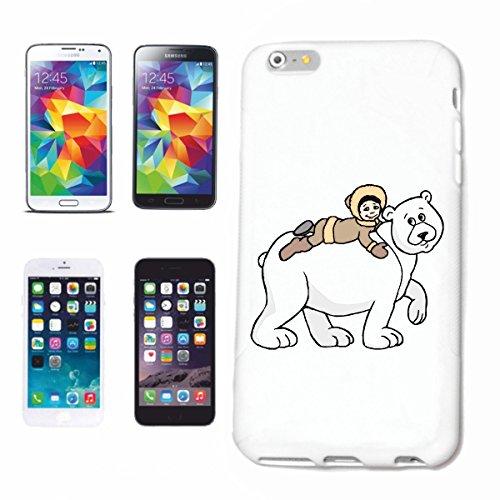Reifen-Markt Funda para iPhone 5C, diseño de oso polar y chico, dibujos animados, divertido, película de culto, dibujos animados, divertido, película de culto