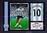 SGH SERVICES Neuf encadrée Diego Maradona signé autographe imprimé de Football Souvenirs Photo dédicacée encadrée Cadre en Panneau MDF Impression Photo