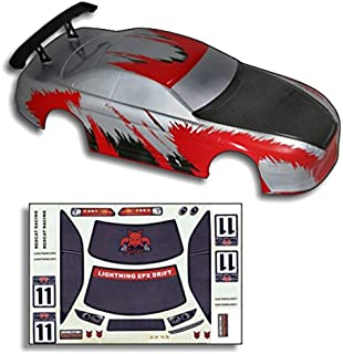 Redcat Racing Road Body (1/10 Scale), Red/Carbon Fiber