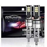 CCAUTOVIE Bombilla LED Antiniebla Coche H1 para Luces Antiniebla Circulación Diurna DRL 60W 6000K Blanco