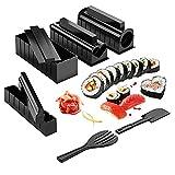 11 Unids / Set Para Principiantes Diy Kit De Fabricación De Sushi Cocina Herramientas Para Hornear Saludable Herramientas De Rollo De Sushi Máquina De Rollo De Arroz Gadgets-10 Pcs Conjunto