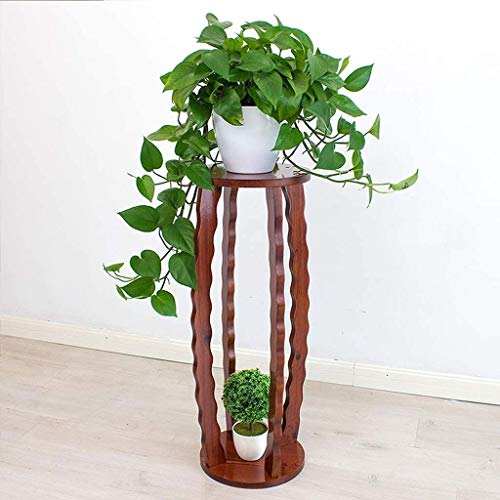 Blumenständer Pflanzgefäß Pflanzenständer Freistehende Hoch Holz Pflanze Stand Tisch Indoor Dekorative Pflanze Hocker Wohnkultur Standfuß, einzigartige Wellenförmige Pflanzer Regale, Telefontischchen