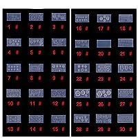 k-cocochi シリコン モールド 3D ネイル用 アートデコ まとめて30個 ランダムセット レジン 道具 型 型どり