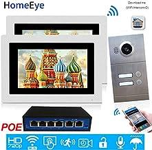 HomeEye 720P WiFi IP Video Door Phone Smart Video Intercom Multi-Apartments Door Access Control System iOS/Android APP Rem...