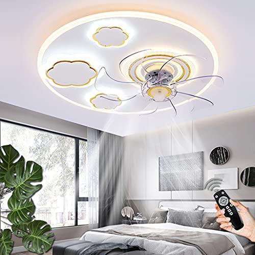 Ventilador De Techo Moderno Con Iluminación LED 60W Regulable Lámpara De Techo Control Remoto Lámparas De Ventilador Velocidad De Viento Ajustable Para Sala De Estar Dormitorio Habitación Infantil (C)