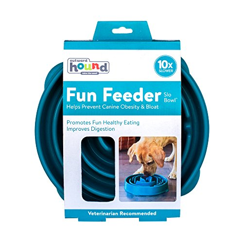 DOGGAMESSLO-BOWL早食い防止大型犬フードボウル(カリビアンブルー)