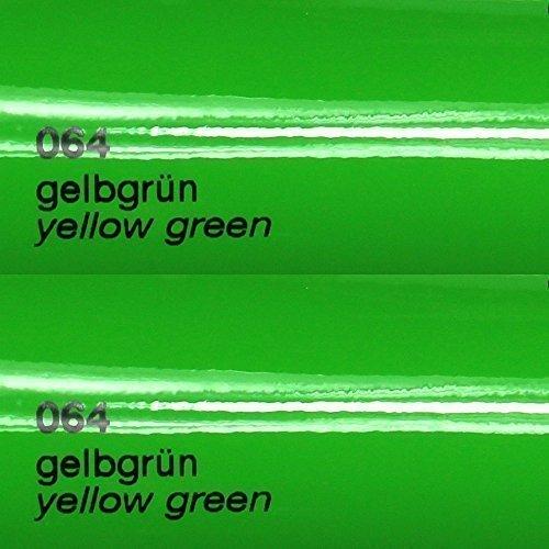 8,25€/m² Oracal 751c - 064 Gelb Gruen - Glanz Klebefolie - 5m x 63cm - Folie - Moebelfolie - Plotterfolie - Selbstklebend - gegossen - cast