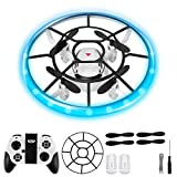 Mini Drone Portátil para Niños Flying Toy Luz LED Juguetes UFO Helicóptero 360°Rotación Juguetes Mini Drone Bola Voladora Controlada a Mano Carga USB Juguete Volador Control Manual Juguete Regalos