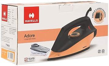 Havells Adore 1100-Watt Dry Iron (Peach)