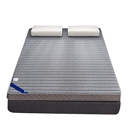 ZLBIN Latex Mattress 10In Gray, Memory Foam King Size (Fabric: Polyester) All Seasons,200x220cm
