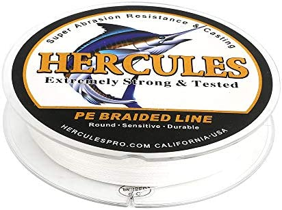HERCULES Super Strong 300M 328 Yards Braided Fishing Line 50 LB Test for Saltwater Freshwater product image