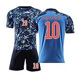 Camisetas y Shorts de fútbol para niños. Maillot de fútbol japonés Maillot de Manga Corta versión Conmemorativa Hombres y Mujeres Maillot de casa niños-KAGAWA10-22
