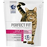 Perfect Fit Croquettes pour Chat Adulte Stérilisé, Riche en Saumon, 4 Sacs de 1,4kg