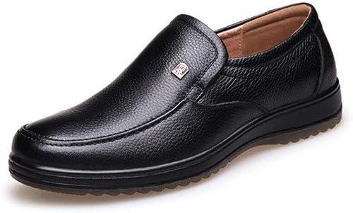 ZIXUAP Chaussures pour hommes Oxford Chaussures de de soirée Chaussures de soirée Grandes tailles 38-47 Noir Marron