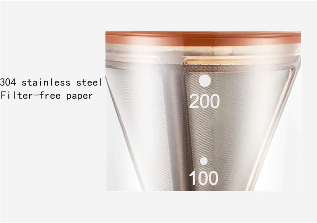 GUOXY Handmatige Koffiemolen -Koffiezetapparaat Set Goot voor Filter Koffie Hine Set Dubbele Glazen Kruik Koude Dubbele Pot Warm/Koud 3 Kleuren, 200 Ml,C A