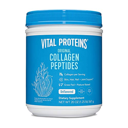 Vital Proteins Collagen Peptides Powder Supplement (Type I, III) w/ Hyaluronic Acid & Vitamin C, Unflavored 20oz for $25.79 w S&S + FS