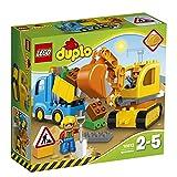 LEGO Duplo Town Camion e Scavatrice Cingolata, Set di Costruzioni Prescolare con Mattoni Grandi, Giocattoli per Bambini dai 2 a 5 Anni, 10812