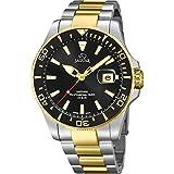 Reloj Jaguar caballero acero bicolor esfera negra