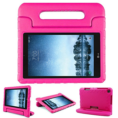 Bolete Case for LG G Pad F2 8.0 Sprint LK460, Kids Friendly Ultra Light Weight Shock Proof Super Protective Cover Handle Stand Case for LG GPad F2 8.0 Sprint Model LK460 8-Inch Android Tablet, Rose