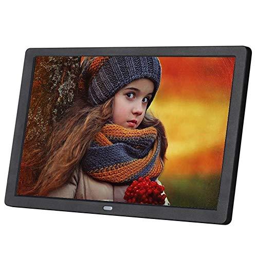 ZUEN 10-Zoll-HD-Bildschirm Ultradünne Werbung Maschine Elektronisches Fotoalbum Digital Photo Frame Vollformat-Unterstützung,Schwarz