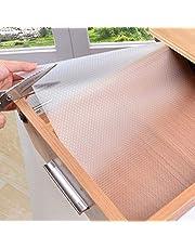 Waterdichte Pad Shelf Lade Liner Kast Non Slip Tafel cover mat koelkast pad tafelkleed vochtdichte keukentafelmat 30x150 Transparante
