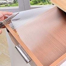 Waterdichte Pad Shelf Lade Liner Kast Non Slip Tafel cover mat koelkast pad tafelkleed vochtdichte keukentafelmat 30x150 T...