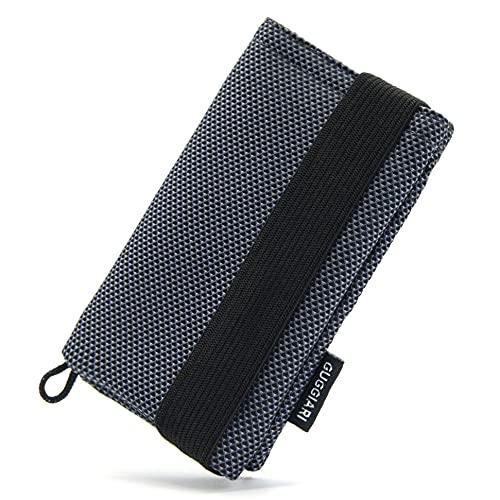 GUGGIARI® Portafoglio Slim Uomo, Morbido e Flessibile, dotato di un Sistema di Protezione RFID - Porta Carte di Credito, Contanti e Chiavi. (Microfibra, Grey - Oxford)