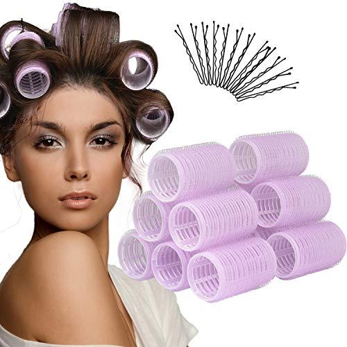 Hair Rollers,12 Pack Self Grip Hair Curlers,Self Grip Rollers for Hair,Salon Hairdressing Curlers for Women,DIY hairstyle (Medium)