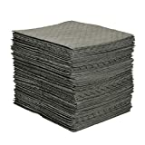 Brady SPC MRO100 15'x 19' Premium Heavy Weight Multi-Purpose (Chemical/Oil/Water) Absorbent Pads with Strong, Low Linting Fine Fiber Cover - 100 ct
