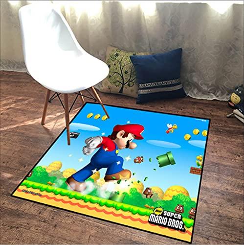 Alfombra De Impresión 3D De Dibujos Animados Alfombra De Anime Super Mario Alfombra De Dormitorio para Niños Alfombra De Sala De Estar Alfombras De 160 * 230Cm